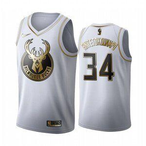Bucks #34 Giannis Antetokounmpo White Jersey